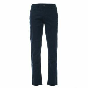 Men-039-s-Ben-Sherman-5-Pocket-Buttoned-Slim-Fit-Stretch-Chino-Trouser-in-Blue