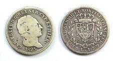 SAVOIA - CARLO FELICE 1821-1831 -AG/ 1 LIRA 1825 GENOVA   RARA !