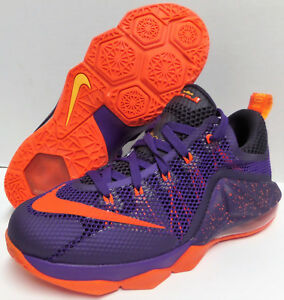 NIKE LeBron XII 12 Low COURT PURPLE BRIGHT CRIMSON Basketball Shoes ... 2bcc930e6c