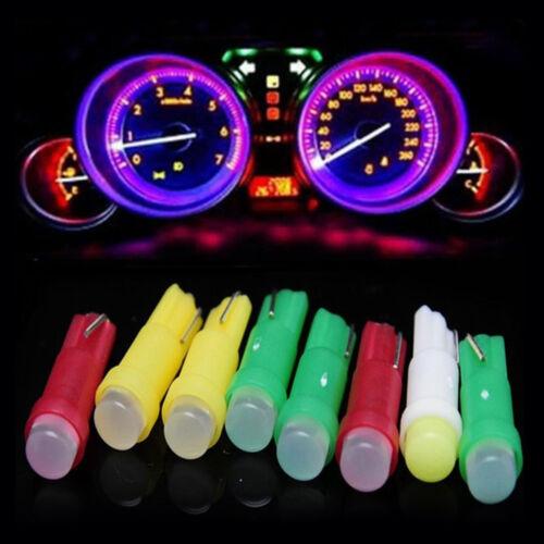 Auto Car LED Dashboard Instrument Lamp Muti Color T5 Cob 3D Light Bulb Wholesale