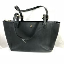 58cb63f23bc8 Tory Burch York Saffiano Leather Small Buckle Tote Black for sale ...