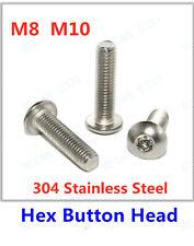 ZERIRA 2 Pcs 304 Stainless Steel Thread Expansion Screws with Eye Ring Anchor Internal Eye Bolt Fastener M10 70mm