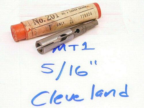 "MT1 .3125 NEW SURPLUS CLEVELAND #1MT SPLIT SLEEVE DRILL DRIVER 5//16/"""