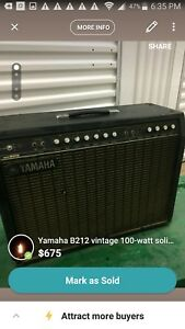 Yamaha-Rare-Vintage-Working-Guitar-Amplifier-Hundred-B212-Amp