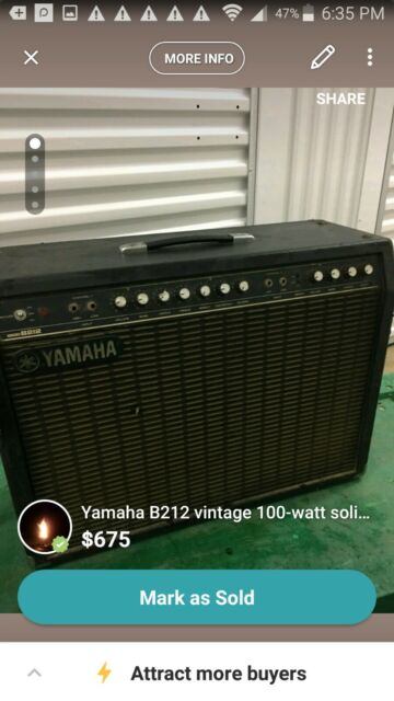 Yamaha Rare Vintage Working Guitar Amplifier Hundred B212 Amp