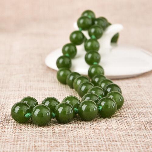 "18/"" 24/"" 36/"" 50/"" 6//8//10mm Brazilian Green Jade Gemstones Round Beads Necklace AAA"