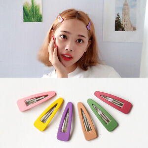6cm-Matte-Triangle-Resin-Hair-Clip-Pin-Candy-Color-Hairpins-Large-Metal-Barrette