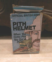 Vintage Pith Helmet Gag Gift British Army Old Over The Hill Funny