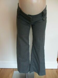 FUNMUM MATERNITY SMART BROWN PINSTRIPED WORK TROUSERS SIZE 8 10 12 14 BNWT