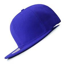 New Hot Royal Blue FLAT Peak SNAPBACK Plain Blank Cap Dancer Hat Gift Chapeau