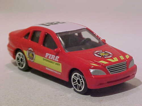 Emergency Realtoy 1//64 Diecast Mint Loose 3 INCH Mercedes C 2001 Fire Dept