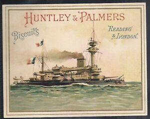 HUNTLEY & PALMERS-WARSHIPS OF NATIONS (ENGLISH BACKS)-#06- SCARCE CARD!!!