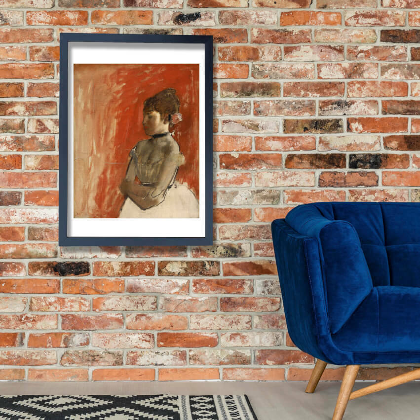 Edgar Degas - Ballet Dancer with Arms Crossed Wall Art Poster Print