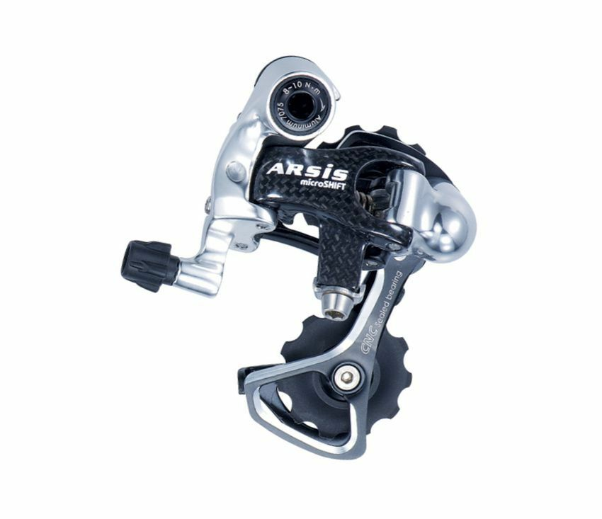 Bicycle rear derailleur Microshift Arsis Carbon 10 speed Shimano Compatible