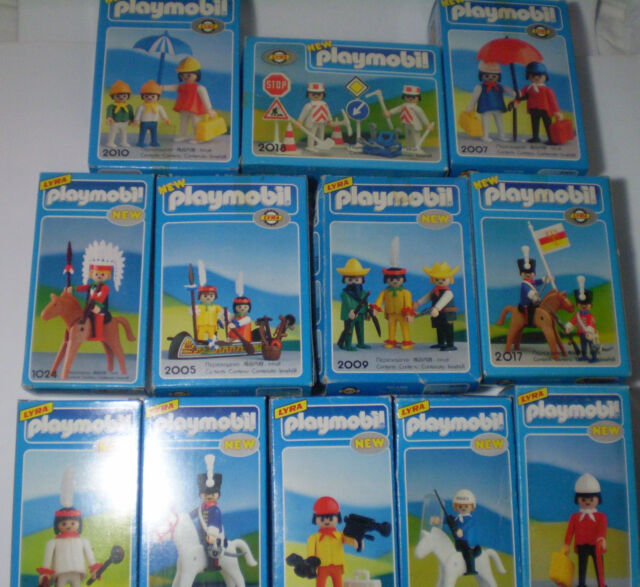 EXTRA RARE Old 1978 Greek LYRA PLAYMOBIL -COLLECTION OF 12 DIFFERENT SETS ! MIB!