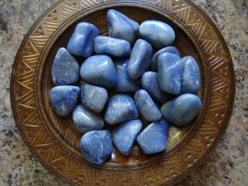 QUARTZ BLUE 1//4 Lb Gemstone Specimens Tumbled Wiccan Pagan Metaphysical