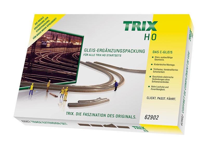 Trix h0 62902 C-BINARIO-complemento confezione c2 Fiera PREZZO 12 pezzi Merce Nuova