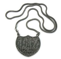 Iced Out 1017 Brick Squad Pendant-4 & 36 Franco Chain