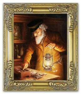 Oil-Painting-Pictures-Hand-Painted-with-Frame-Baroque-Art-G17812
