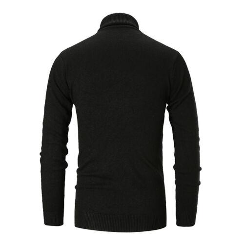 Men/'s Long Sleeve Turtleneck Pullover Sweater Slim Warm Knitwear Knitted Jumper