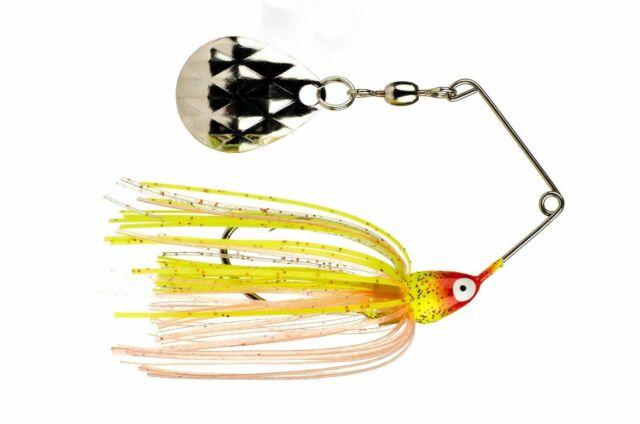 Strike King Mini King Spinning Fishing Bait 1//8 Oz Black//Gold Blade 1//Pk MK-10G