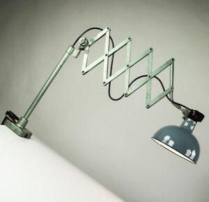 Rademacher-Tisch-Scheren-Leuchte-Telegrafen-Lampe-Desk-Scissor-Lamp-30er-50er
