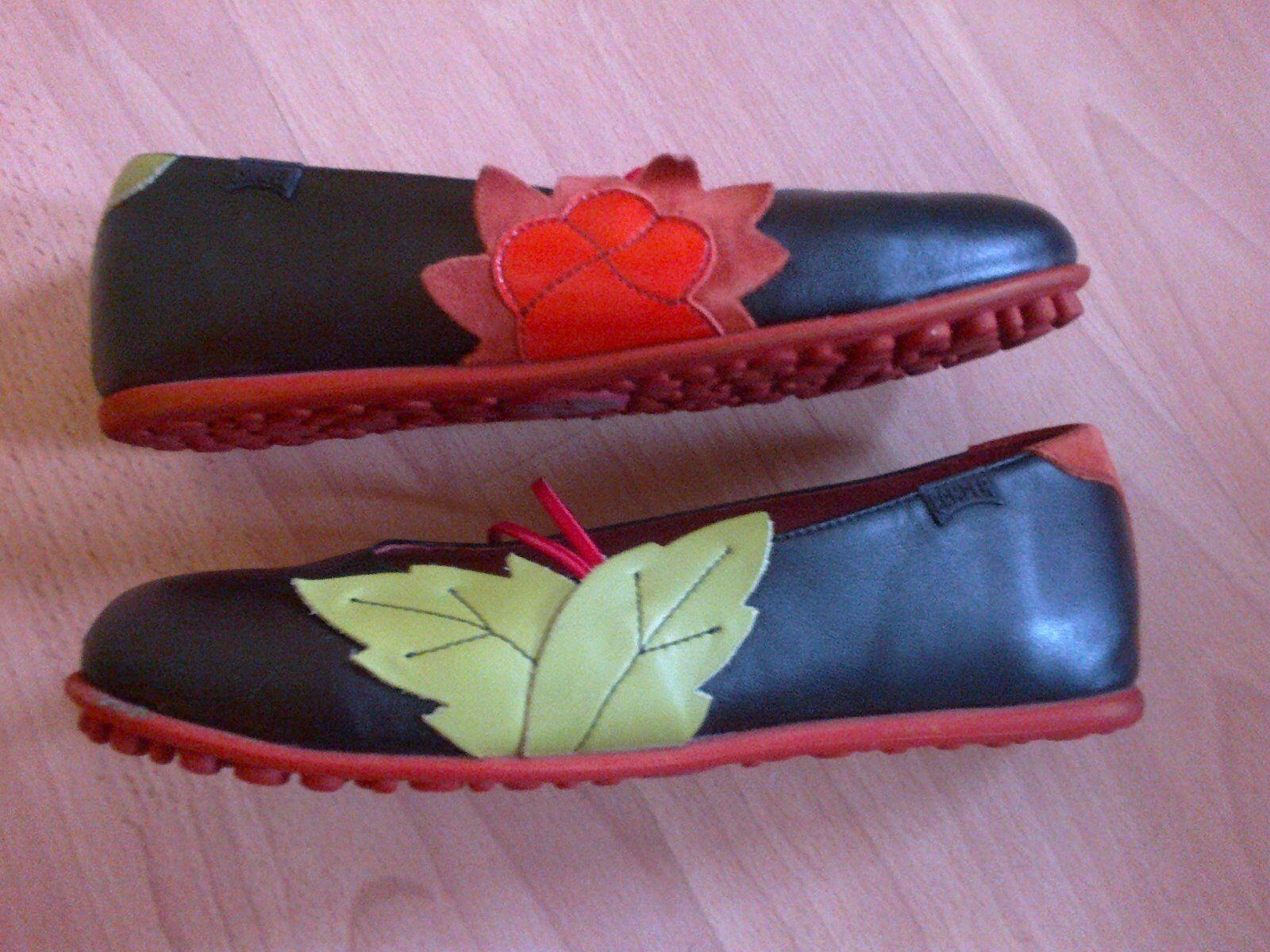 CAMPER BEAUTIFUL CUTE BLACK 100% LEATHER WOMEN Schuhe