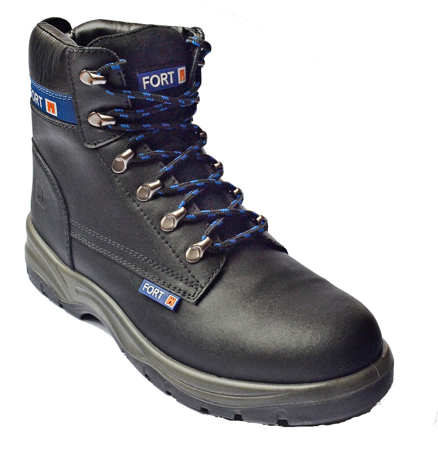Stivali di sicurezza Mens caviglia acciaio punta LAVORO TAPPO caviglia Mens Fortress 5330e8