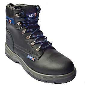 Sherman 12 stivali nero Safety fortress Size Toe Uk Cap Ankle Uomo Work Steel 6 rossouced Fortress ZqwRn5P
