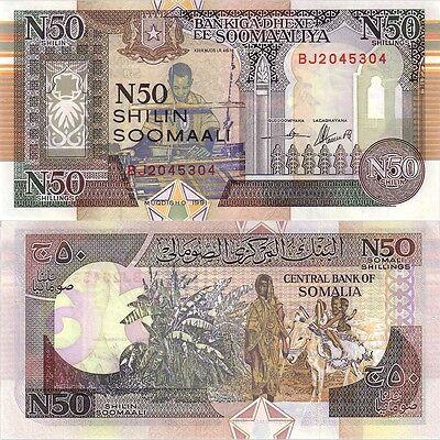 Agresivo Listado De Múltiples Variaciones 2 Denominaciones Billetes De Somalia Unc-n Listing 2 Denominations Banknotes Of Somalia Unc Es-es