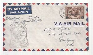 CANADA-1942-FIRST-FLIGHT-COVER-C4-CATALOG-20-MONTREAL-TO-QUEBEC