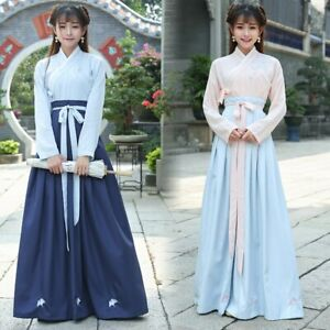 Chinese Traditional Hanfu Cosplay Costume Han Dynasty Stduent Stage Show Dress Ebay