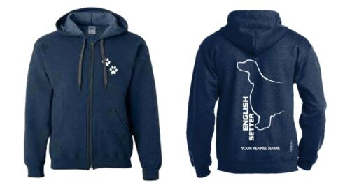 Exclusive Dogeria Design English Setter Full Zipped Dog Breed Hoodie