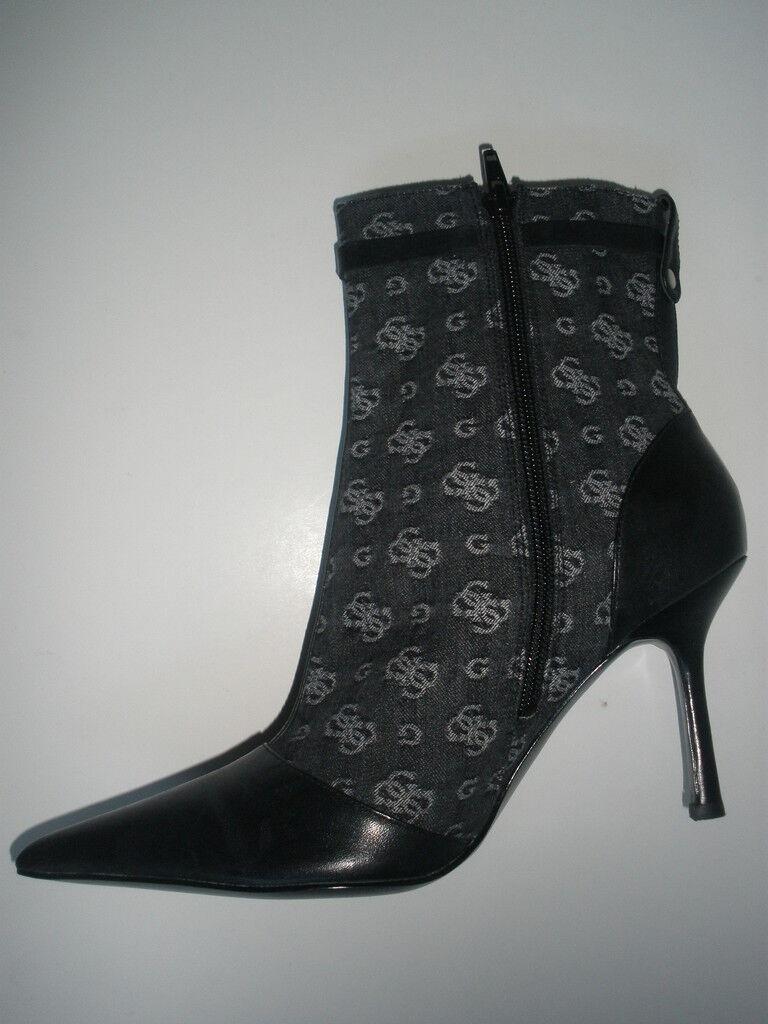 Guess G logo Ankle Heel Zipper Stiefel Bootie Pointed toe Zipper Heel schwarz US 8.5 75825d