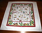 "NEW Retro Style Cotton 40's/50's Tablecloth -RED CACTUS CALIFORNIA- 52"" Square"