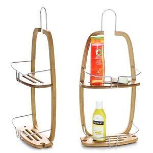 serviteur etag re de douche en bambou et m tal chrom suspendre au robinet ebay. Black Bedroom Furniture Sets. Home Design Ideas