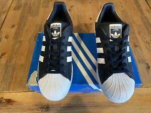 Oficial inestable Votación  Adidas Superstar Azul Marino/Blanco para Hombre Talla 9-Nunca Usado   eBay
