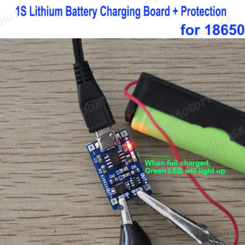 Protection 18650 Lithium Battery Charging Board 1A Micro USB LED Charger Module