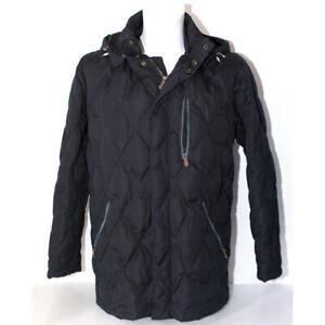 innovative design d0dc5 a760d Dettagli su Giacca Uomo Henry Cotton's 48 blu piuma d'oca giaccone invernale