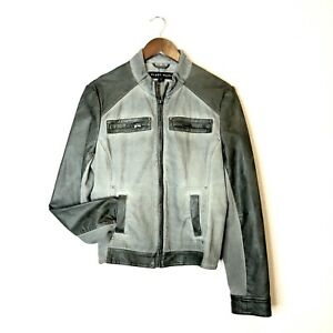 Olive Green Bomber Jacket Medium Noir Grey Størrelse Style Blanc vUxE1Fn