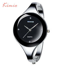Kimio Brand Stainless Steel Bangle Women Watch Bracelet Girl Wristwatch