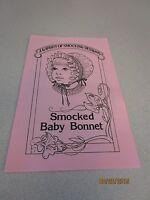 Smocked Bonnet Sewing Pattern Size Nb - 1 Year Garden Of Smocking Design