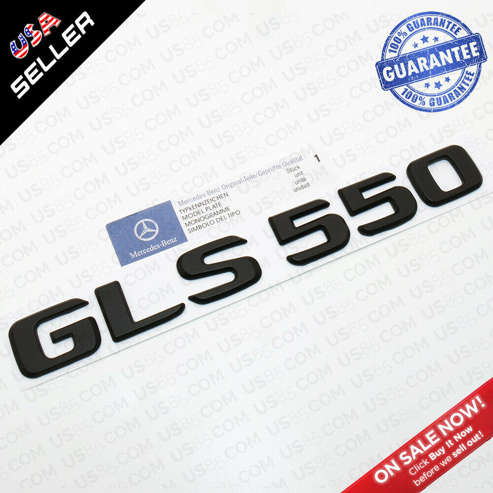 Nameplate GLS 63s Emblem 3d Chrome Trunk Luggage Lid Logo Badge Decoration  AMG