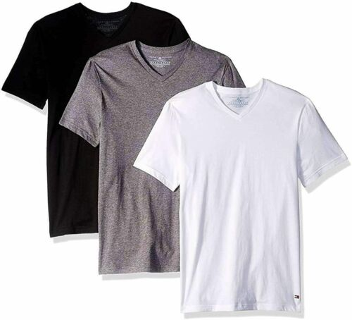 Details about  /Tommy Hilfiger Men/'s 3 Pack Cotton Stretch Classic V-Neck T-Shirts