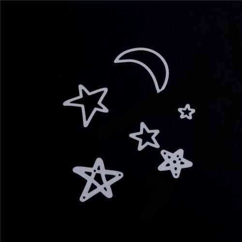 Cute Star Moon Metall Stanzformen Schablone Für Scrapbooking DIY Album Karbgl UU