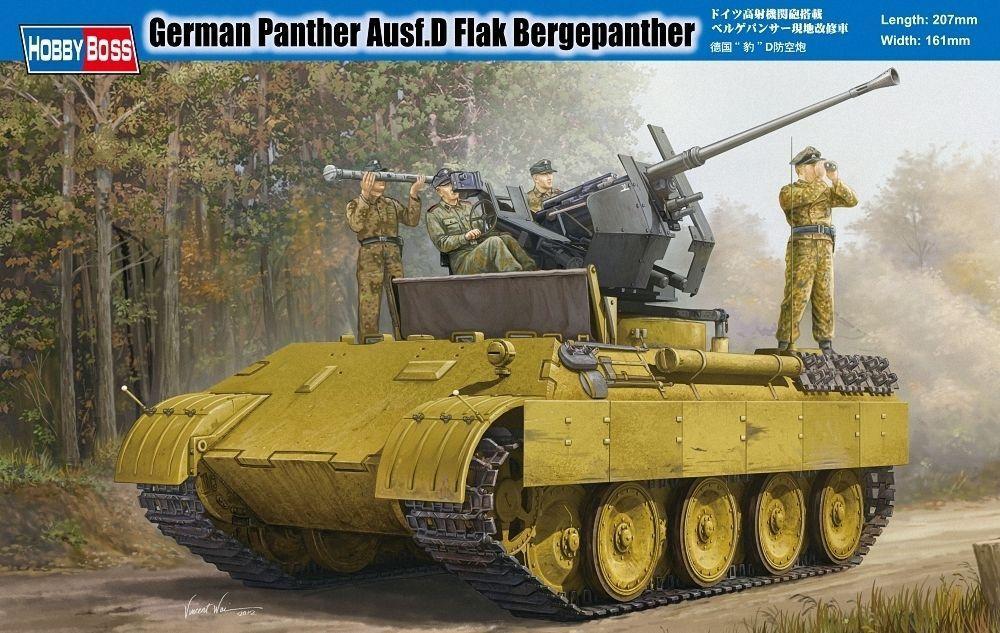 HBB82492 - Hobbyboss 1 35 - German Pa nther Ausf D Flak Bergepanther