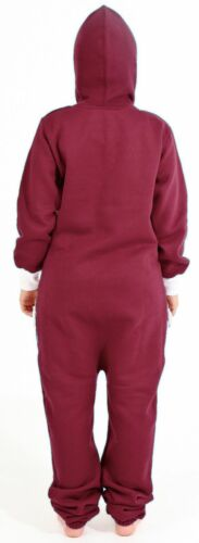 New Women/'s Onesie0 Adult Non-Footed Pajama Jumpsuit Zipper Hoodie Playsuit
