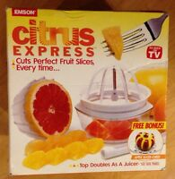 Emson Citrus Express As Seen On Tv .top Doubles As A Juicer.