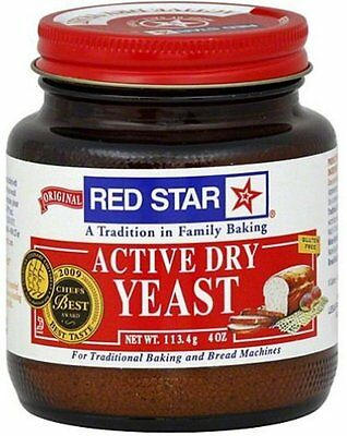 RED STAR ACTIVE DRY YEAST 4 OZ Rising BREAD MACHINES or TRADITIONAL BAKING