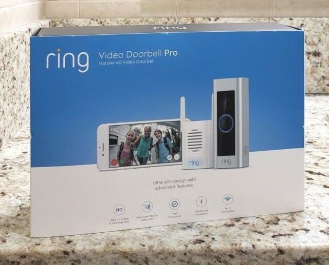 RING Video Doorbell PRO + (Chime Pro Wi-Fi Repeater) 1080p - Sealed NEW